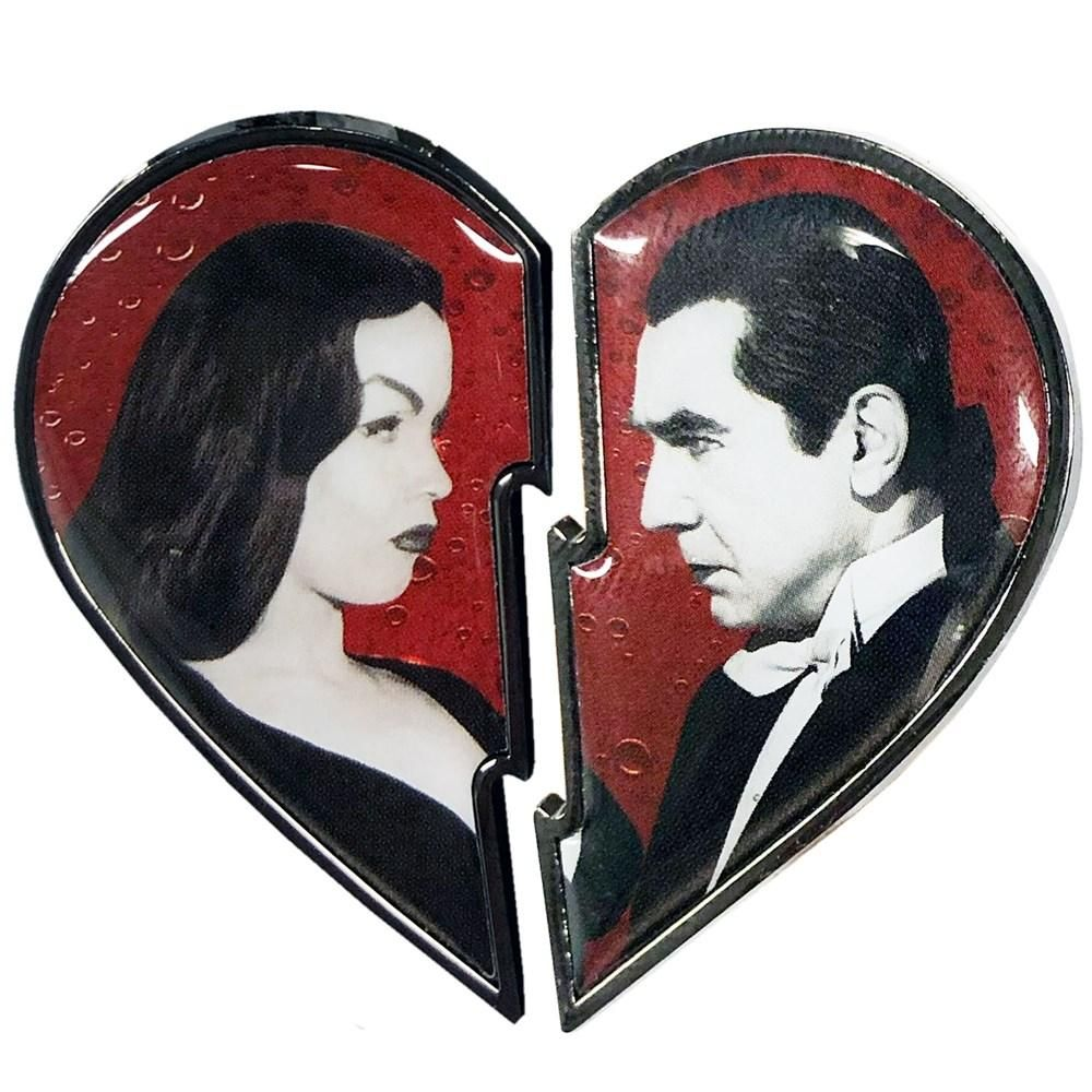 Bela Loves Vampira Broken Heart Pin Set Vampira Heart Pin Heart Enamel Pin