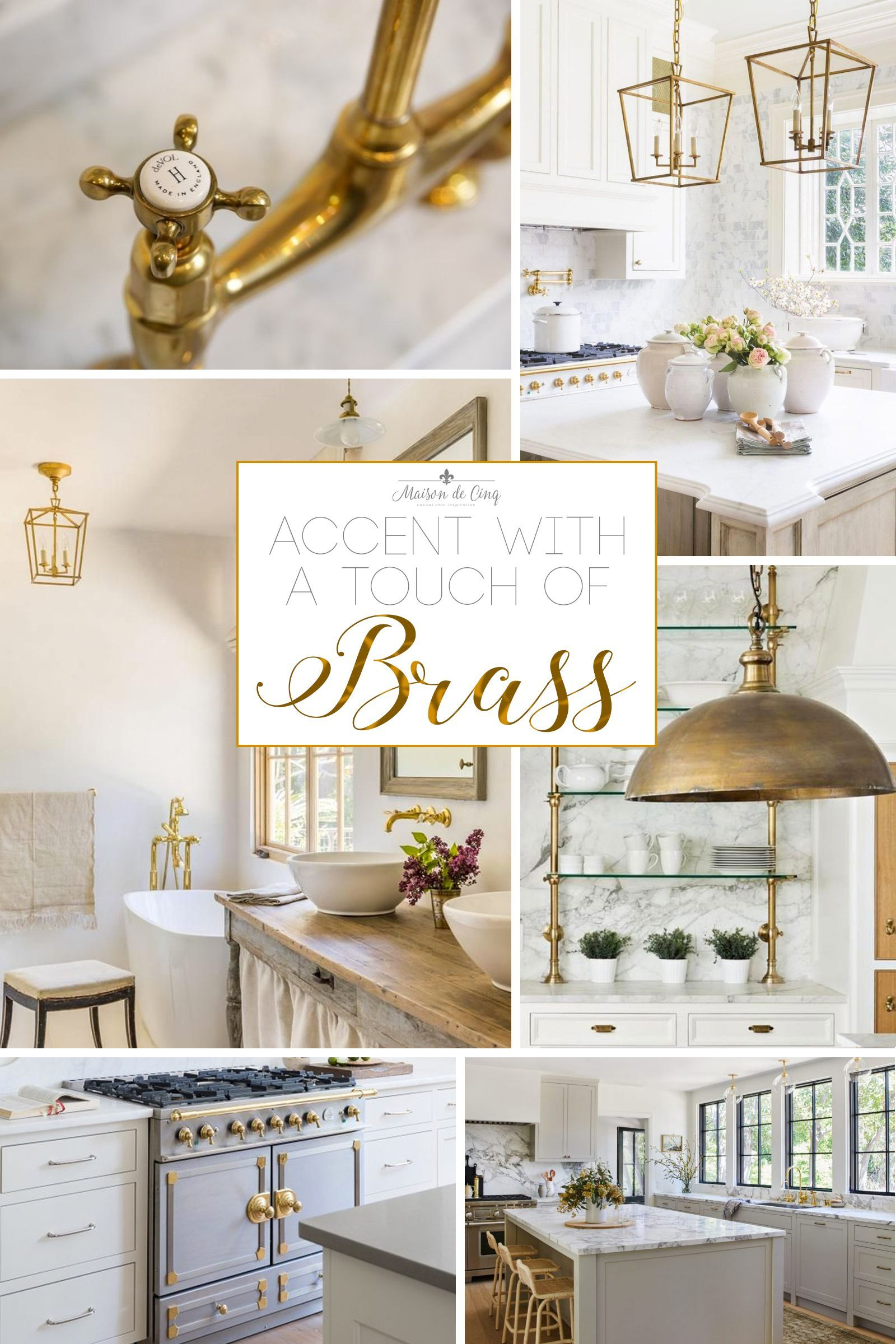 Big Kitchen Decor The Brass Hardware Trend is Going Strong! Brass or gold hardware adds charm and warmth to any space!--->#maisondecinq #brasshardware #kitchenhardware #bathhardware #kitchenlighting #bathroomlighting #hardwaretrends #brasshardwaretrend #goldhardware #warmmetals #warmmetaltrend #interiordecorating #interiordecor #interiordesign #designtrends. Big Kitchen Decor  The Brass Hardware Trend is Going Strong! Brass or gold hardware adds charm and warmth to any space!--->#maisondecinq #b
