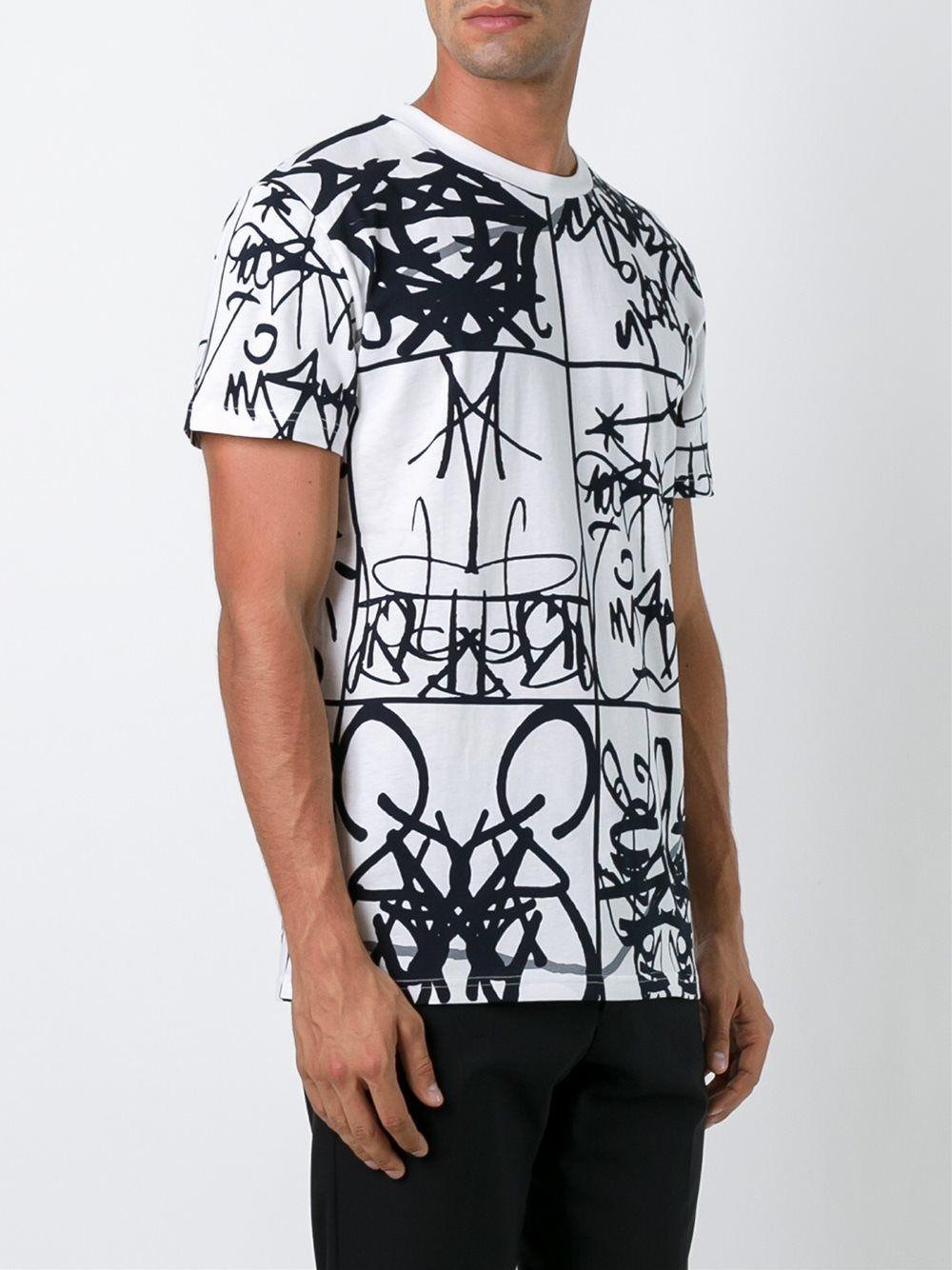 Moschino Camiseta Con Estampado De Graffiti