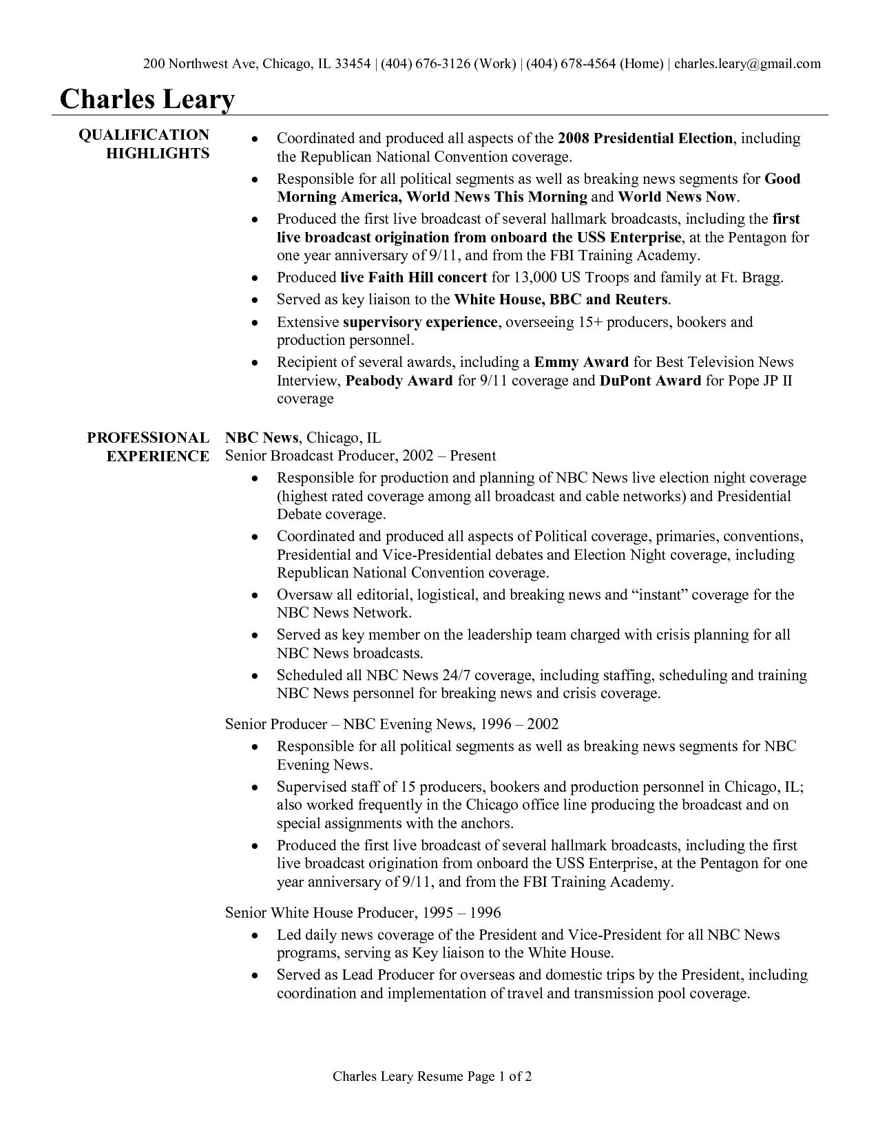 Video Resume Script For Finance