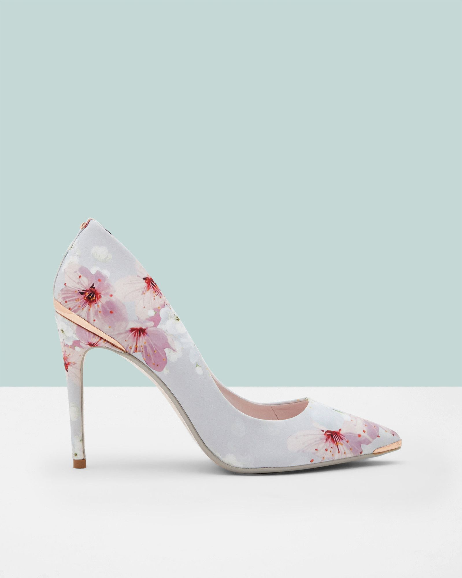 Printed pointed courts - Light Gray | Shoes | Ted Baker | Fashion ...