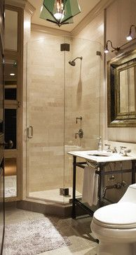 Small Shower Stall Design Ideas Pictures Remodel And Decor Liking The Colour And General Look But Not The Loo Corner Shower Small Bathroom