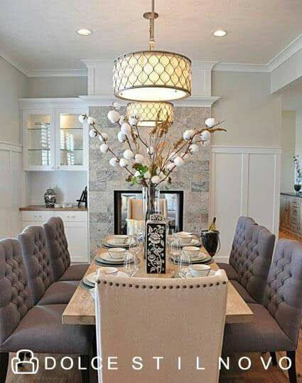 Love this dining set! Country French decor Pinterest Comedores