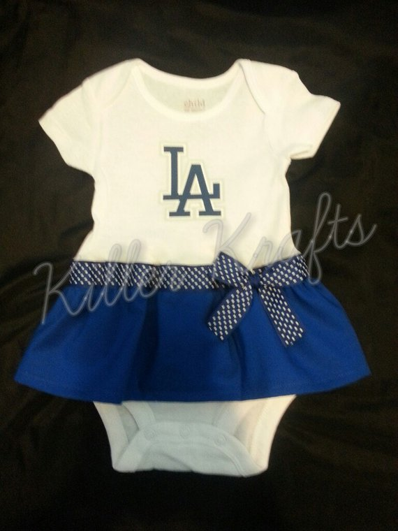 d2a2a3c3 Los Angeles Dodgers inspired baby girl outfit | Products | Girl ...