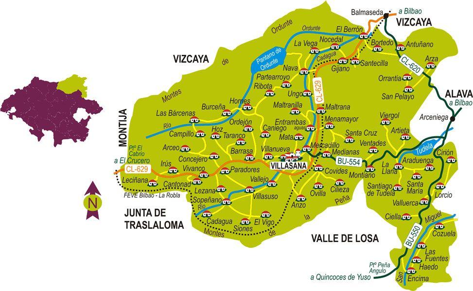 Resultado de imagen de mapa valle de mena