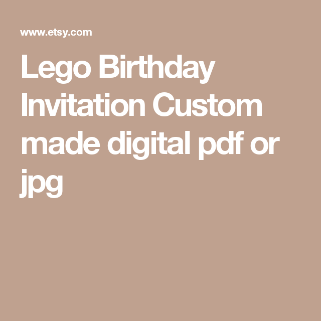 Lego Birthday Invitation Custom made digital pdf or jpg