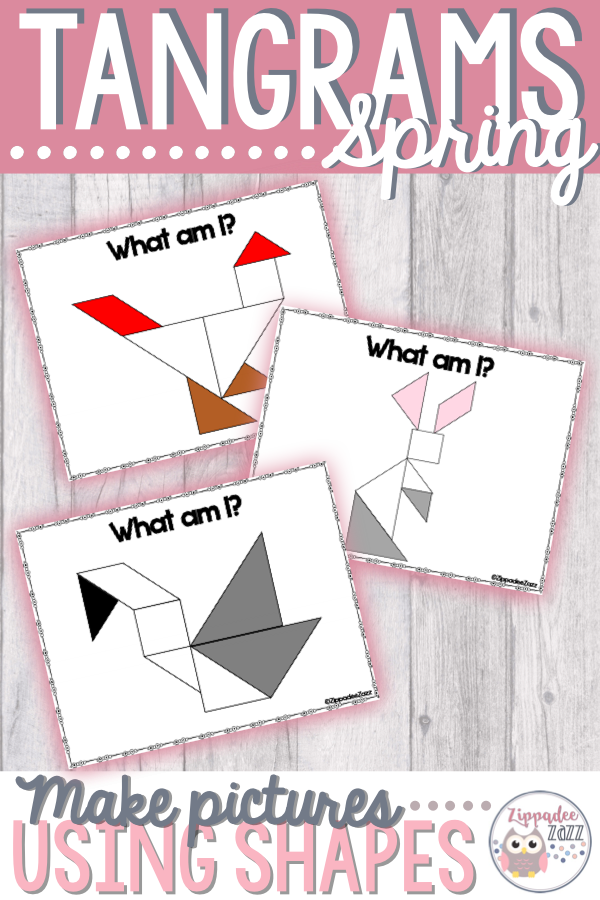 these printable spring tangram pictures are sure to keep
