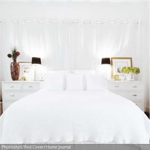 Bett Machen vorhänge gehören an die fenster nicht unbedingt hinter dem bett