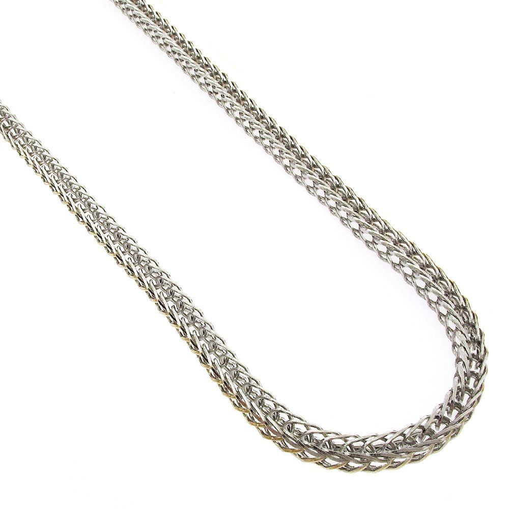 International Stainless Steel 3mm Franco Fox-tail Chain Necklace