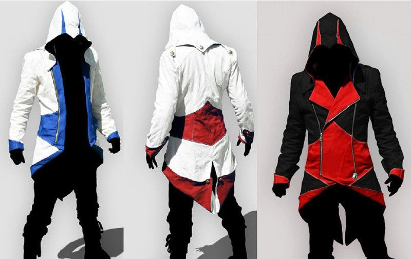 New Conner Kenway Hoodie Jacket Coat Cloak Cosplay Costume Apparel
