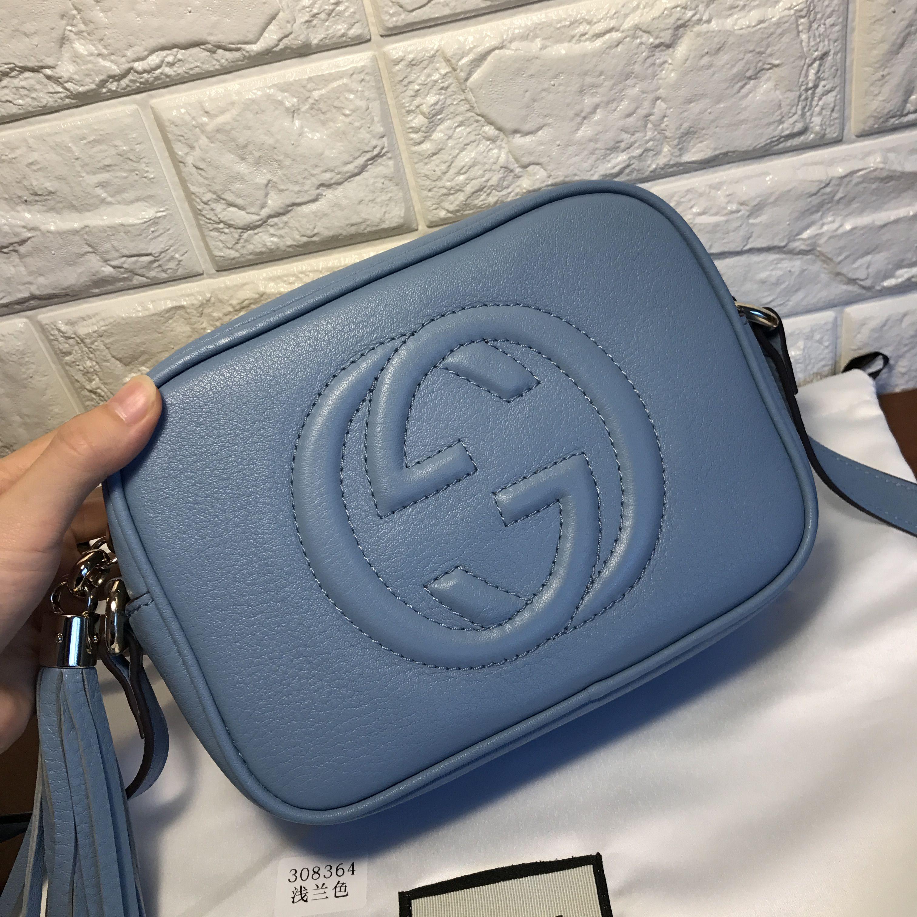 364aa5db024c45 Gucci soho disco original leather light blue | Gucci | Gucci soho ...