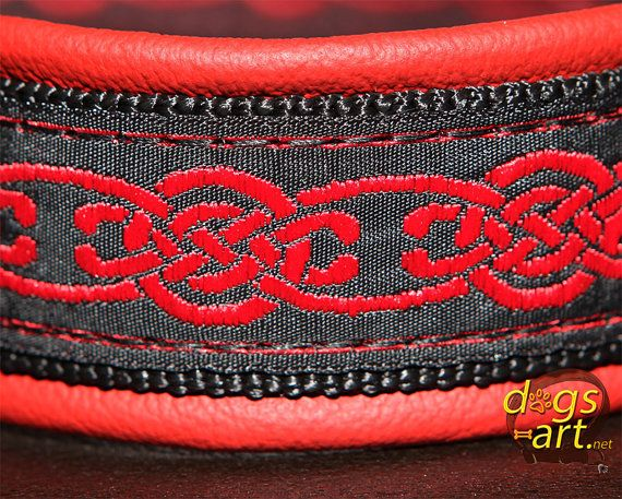 dogsart CELTIC KNOT Martingale Leather Collar  by dogsartcollars, $32.00