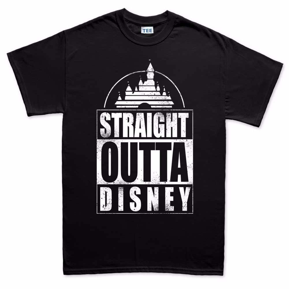Details about Straight Outta Disney Compton Funny Mens T shirt ...