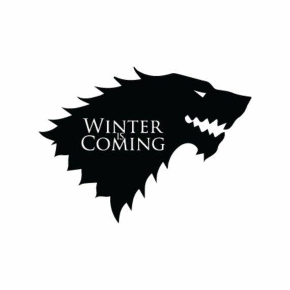 Stark Wolf Sigil W Motto Inside Game Of Thrones Vinyl Decal Multiple Colors Diseños Para Tazas Vinilos Juego De Tronos