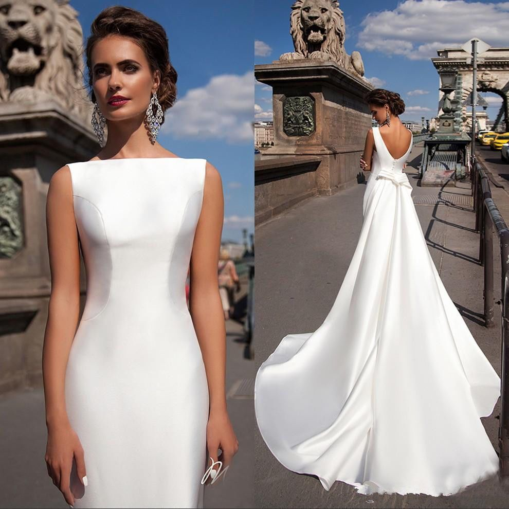 Details about white ivory long sleeve high neck train wedding