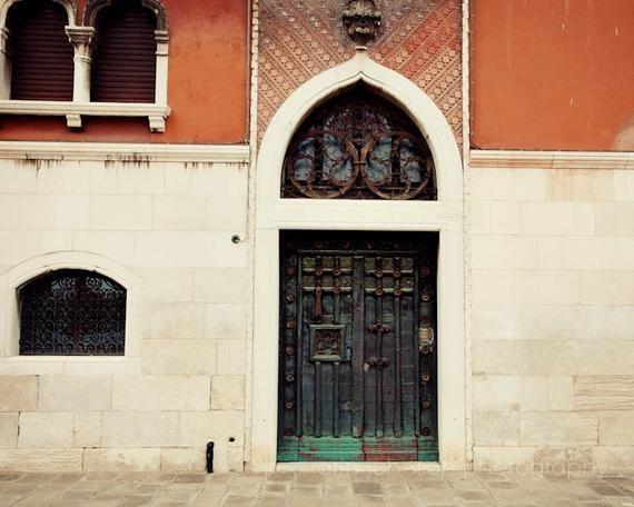 Photo of venice photography, door photography, venice italy, europe art, travel photography, orange home decor, V39