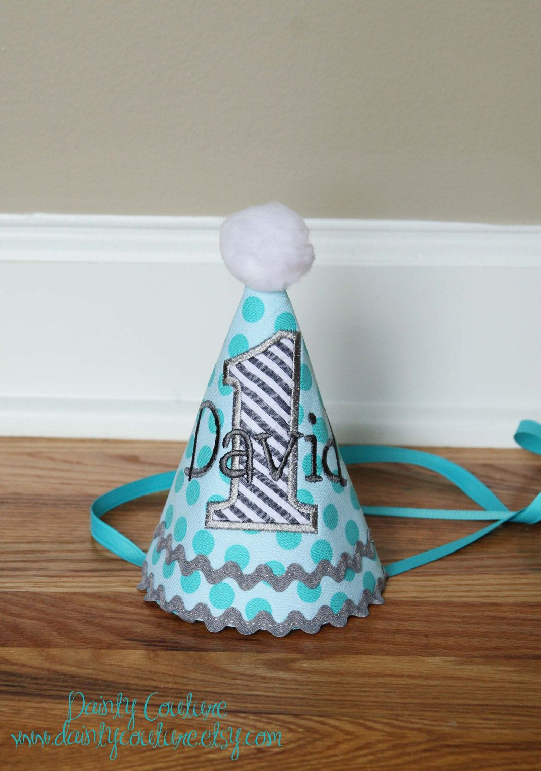 Boys First Birthday Party Hat Michael Millers By DaintyCouture 2500