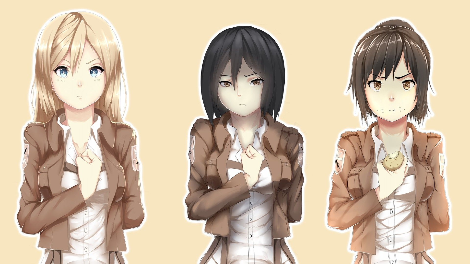 Anime attack on titan sasha blouse mikasa ackerman