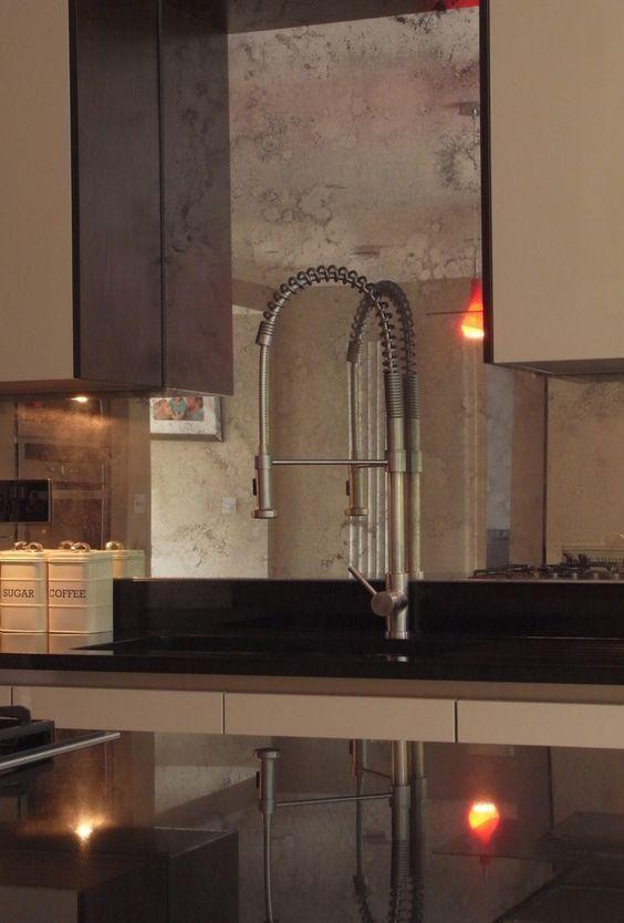 Kupfer verblasst Spiegel Backsplash ist eine perfekte Passform für - küche fliesen ideen
