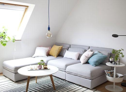 IKEA Deutschland | Perfekt Für Dein Wohnzimmer: VALLENTUNA Ecksofa Mit Dem  Bezug U201eOrrstau201c
