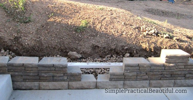 A Small Retaining Wall Backyard