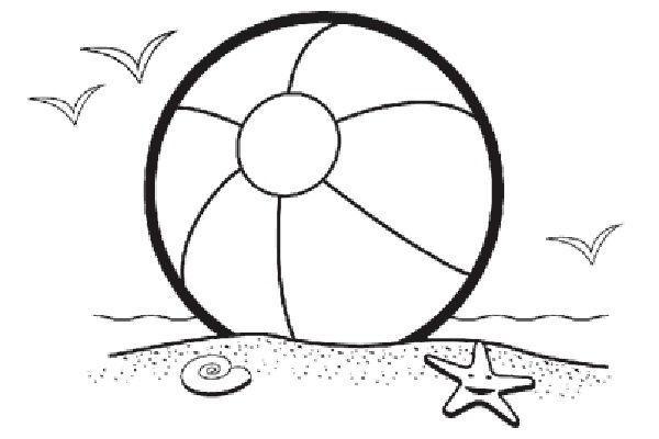 - Printable Beach Ball Coloring Page - Google Search In 2020 Beach Clipart,  Beach Coloring Pages, Free Coloring Pages