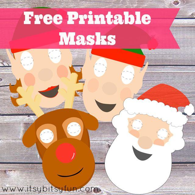 Free Printable Christmas Masks Itsybitsyfun Com Free Christmas Printables Preschool Christmas Christmas Printables