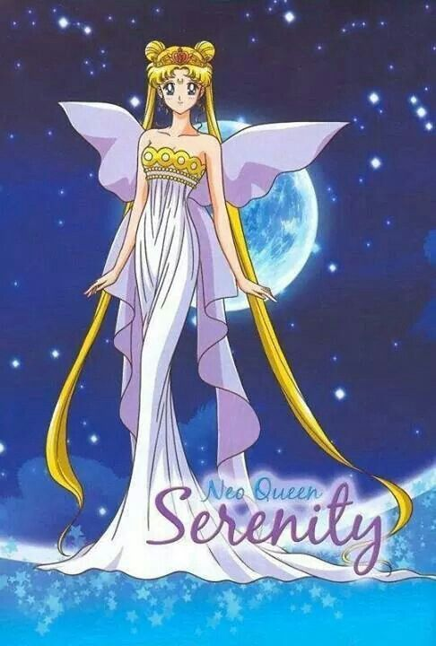 Neo Queen Serenity; queen of 30th century Crystal Tokyo, mother to Chibi Usa and wife to King Endymion.