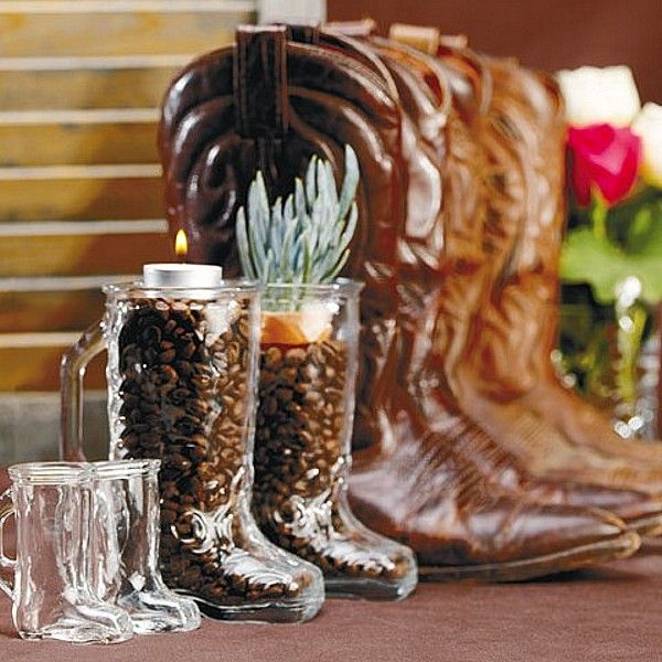 This Large Western Boot Shaped Vase Is Perfect For A Western Themed