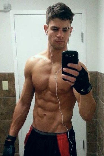 muscle boy selfie Hot