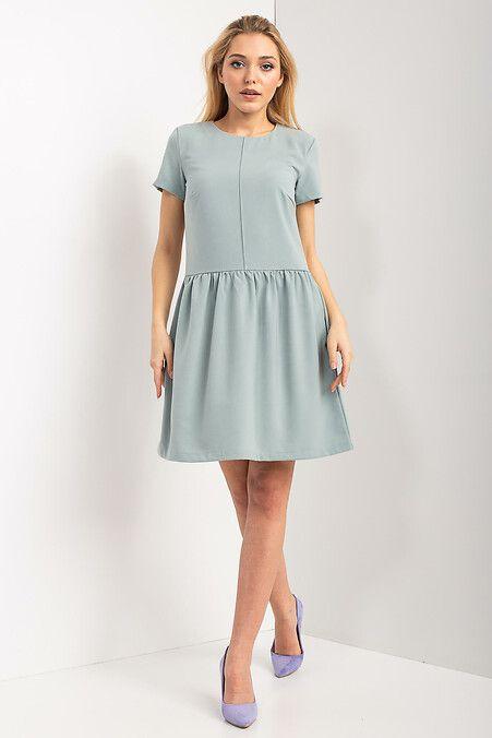 9c4a99e332d Прямое платье INNESA цвета броккард с отрезной широкой юбкой и ...