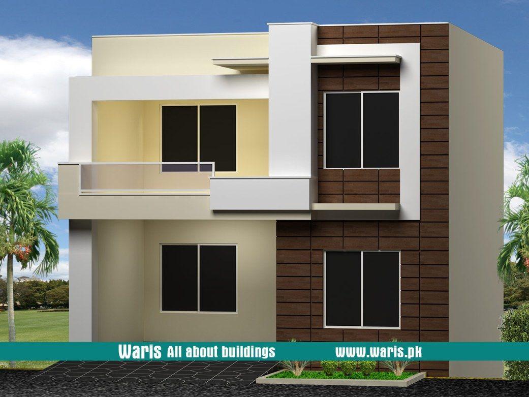 Waris 8 marla house 3d view elevation 30x60 in islamabad pakistan