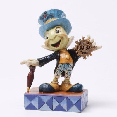 Official Conscience Jiminy Cricket Figurine Jim Shore Disney Traditions Disney Figurines Disney Traditions Jim Shore
