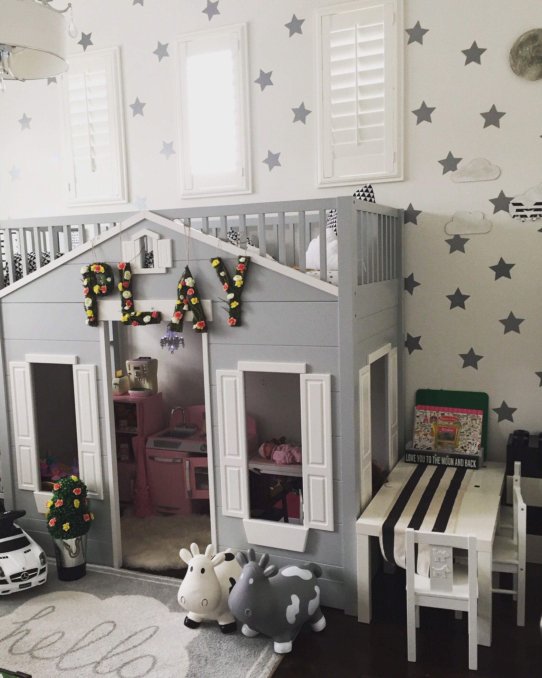 Loft bed organization ideas  Playroom Organization decor nursery kids decor  My house