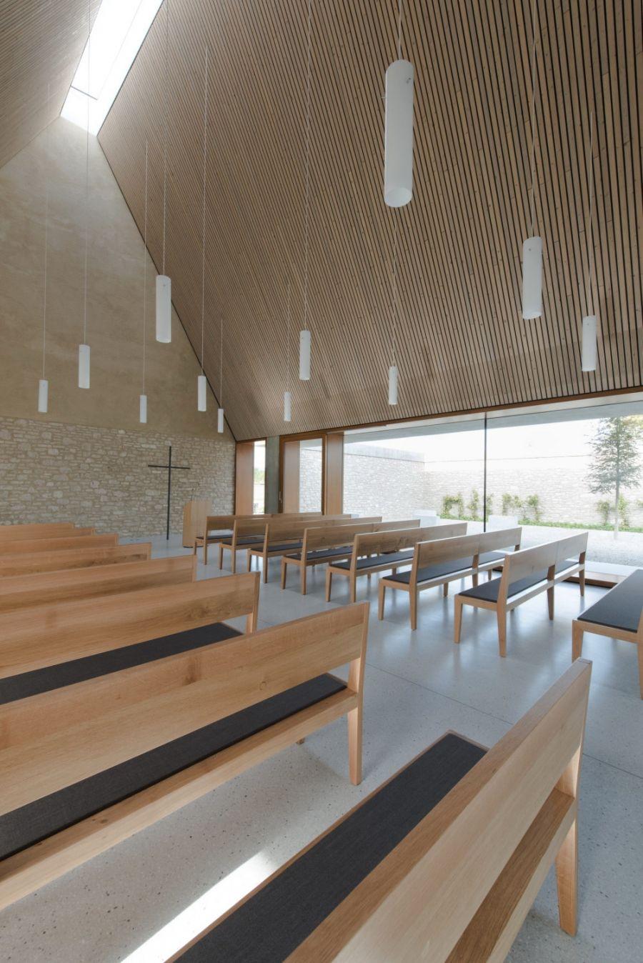 Gallery of ingelheim funeral chapel bayer strobel - Modern funeral home interior design ...
