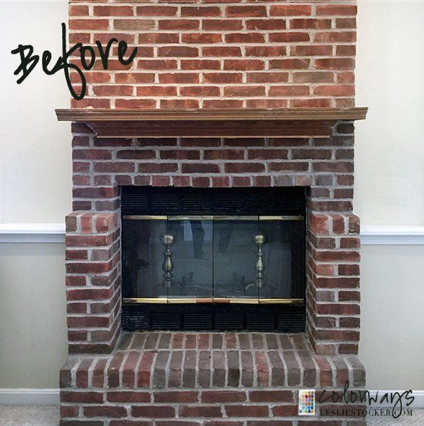 How to make a dated fireplace look amazing in 2019 - How to make a brick fireplace look modern ...