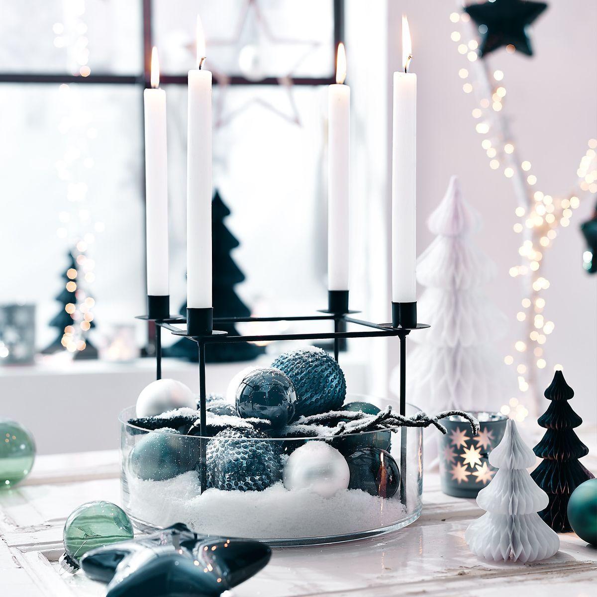 Advent kranz kerzenhalter mit 4 t llen metall schwarz - Weihnachten depot ...
