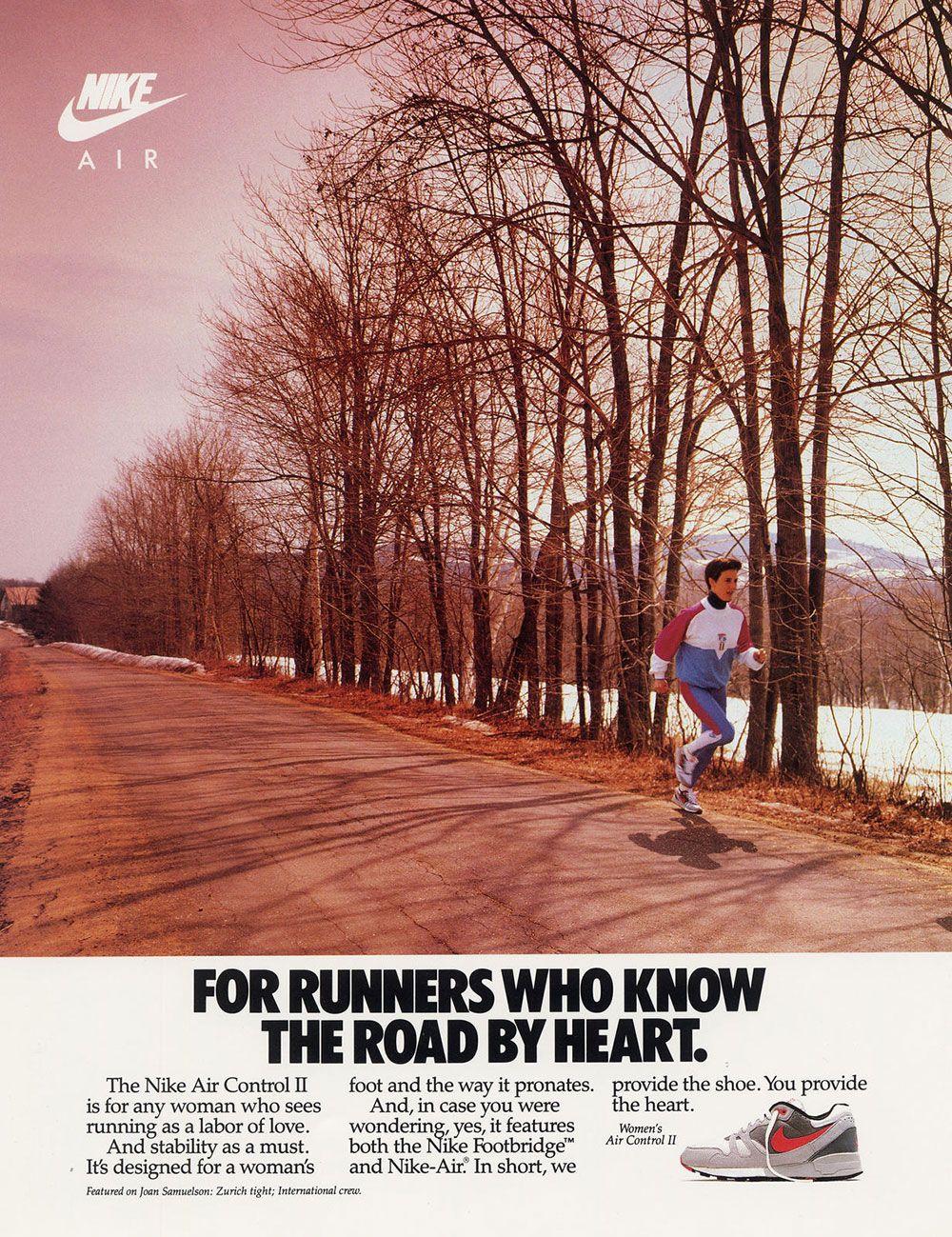 Nike Print Ads 9 Nike Print Magazine Ads That Boosted The Brand S Popularity Vintage Nike Nike Ad Nike Women