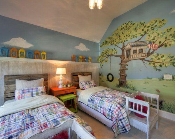 bois chambre-à-coucher-enfant | agencement maison | Tete de lit ...