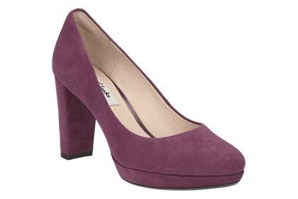 Clarks Kendra Sienna,  Plum Suede, Damenschuhe Smart Schuhes  Sienna,  Schuhes ... a372c2