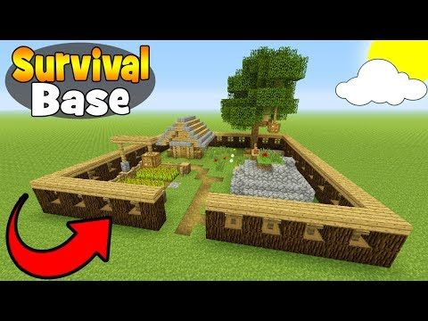 Minecraft Tutorial: How To Make A Small Survival Base