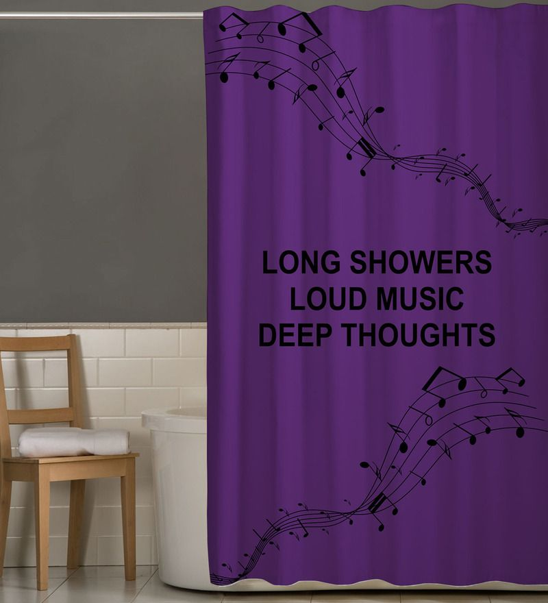 Purple Polyester Shower Curtain Length 84 Width 48 Inches By