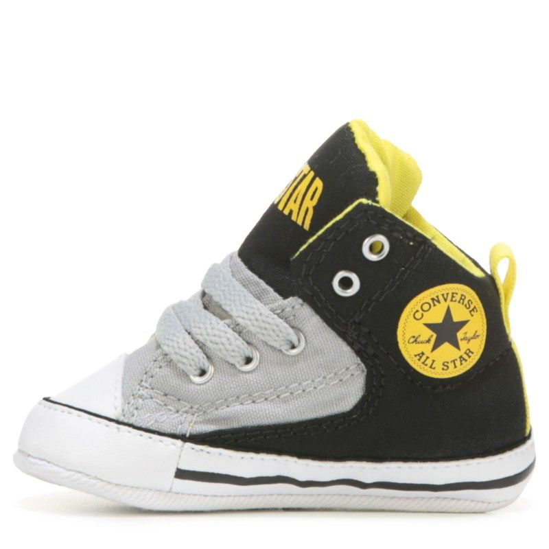 5c70e706f43ebd Converse Kids  Chuck Taylor All Star First Star High Top Baby Toddler Shoes  (Black Ash Grey Fresh)