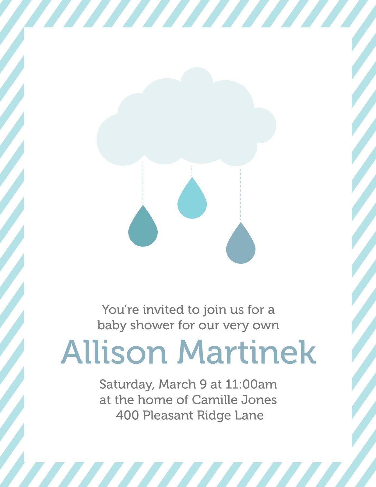 Baby shower invitations cloud theme cloud decoration with baby shower invitations cloud theme cloud decoration with paper rain drops for filmwisefo