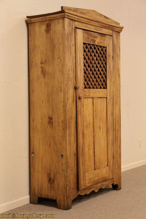 Antique Country Pine Jailhouse Pantry Cupboard Pantry Cupboard Country Antiques Cupboard