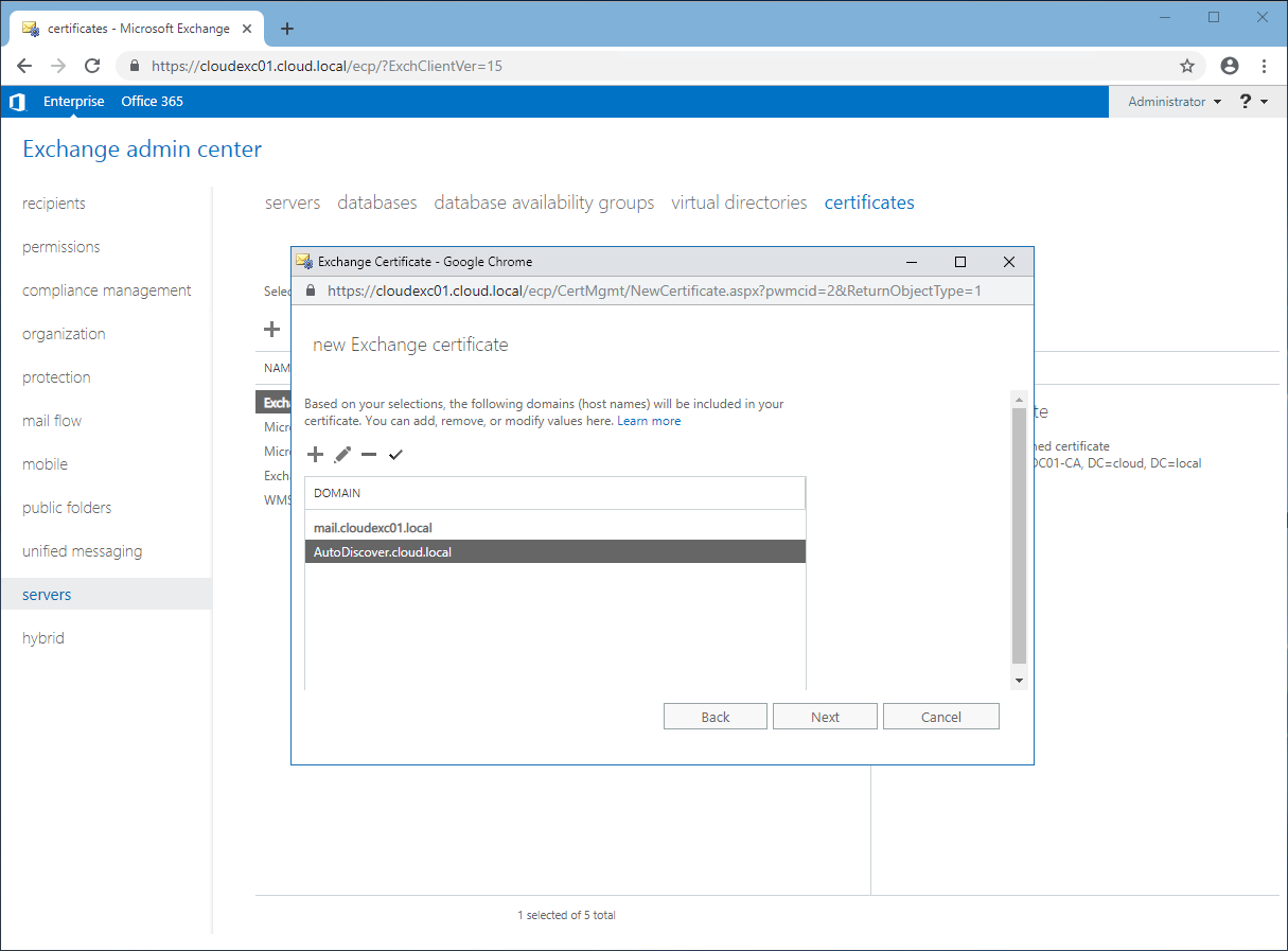 Generate A Certificate Request For Exchange 2016 Techwire