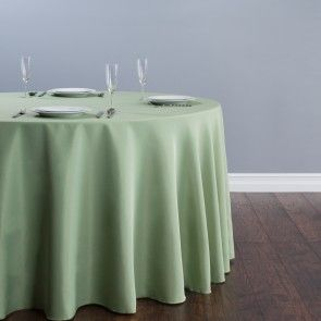120 in. Round tablecloth on 60 in. Round table