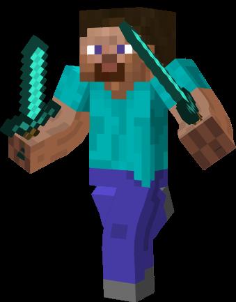 Steve Minecraft With Diamond Sword Trendminicraft Com