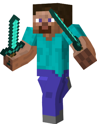 Steve Minecraft With Diamond Sword Trendminicraft Com Minecraft Personagens Minecraft Personagens