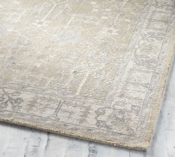 Reeva Printed Rug Neutral Multi Pottery Barn